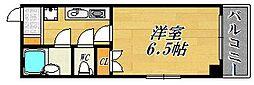 大阪府大阪市北区中津2丁目の賃貸マンションの間取り
