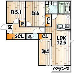 クラポンテMV[3階]の間取り