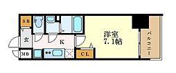 名古屋市営東山線 亀島駅 徒歩5分の賃貸マンション 5階1Kの間取り