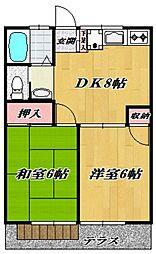 コーポ清樹I[105号室号室]の間取り