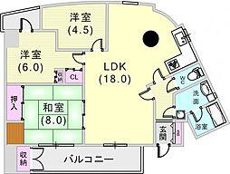 ラコーナン[4階]の間取り