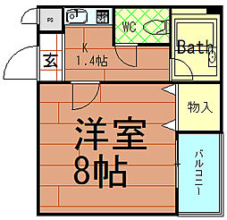 ロータリー45[4階]の間取り