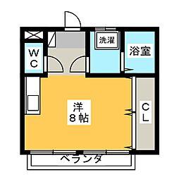 スカイハイツII[2階]の間取り