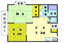 マリンヴィレッジ3[1階]の間取り