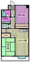 西沢マンション[102号室]の間取り