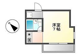 津賀田ハイツ[2階]の間取り