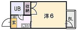 シャトール源氏ヶ丘[3階]の間取り