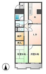 第11オーシャンビル[8階]の間取り