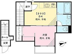 苗村アパートメント[202号室号室]の間取り