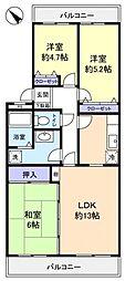 コートウィステリア[1階]の間取り