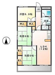 第1マンダイマンション[1階]の間取り