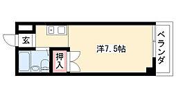 愛知県名古屋市守山区大森5丁目の賃貸マンションの間取り