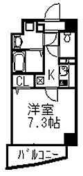 セゾンドミキ[202号室]の間取り