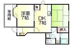 コータコートSHO2[1階]の間取り