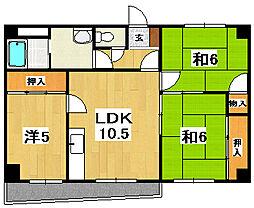 黒川第二マンション[404号室]の間取り