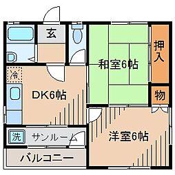 メゾン小川[201号室]の間取り