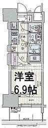 プレサンス阿波座駅前 13階1Kの間取り