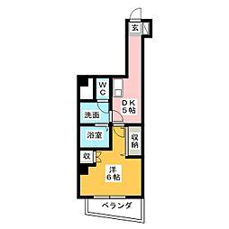 ゴールドサークル尾張町[2階]の間取り