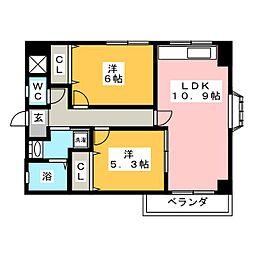メゾンメモワール[1階]の間取り