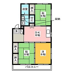 車屋第5ビル[1階]の間取り
