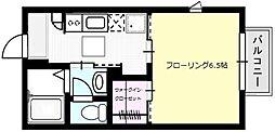 プレシャスコートA棟[102号室]の間取り
