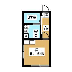 FELICE KOMAZAWA DAIGAKU 3階1Kの間取り