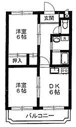 宮城県仙台市青葉区高松3丁目の賃貸マンションの間取り