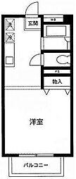 東京都目黒区三田2丁目の賃貸マンションの間取り