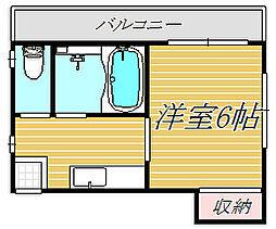 東京都中野区南台1丁目の賃貸マンションの間取り