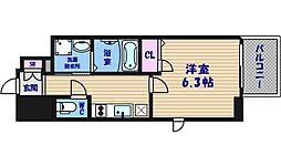 ファーストステージ心斎橋EAST[5階]の間取り