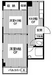 東京都杉並区井草4丁目の賃貸マンションの間取り