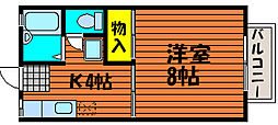 サンコーポ東古松[1階]の間取り