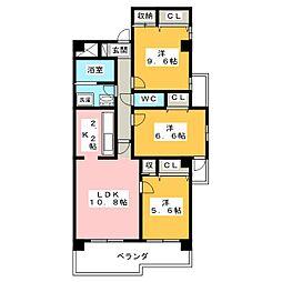 三和ビル[6階]の間取り