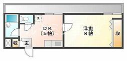 サニーパレス神陵台[3階]の間取り