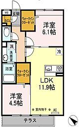 エクレール原宿[1階]の間取り