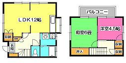 [一戸建] 埼玉県所沢市上新井4丁目 の賃貸【/】の間取り