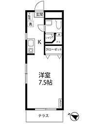 リバーサイド11階Fの間取り画像