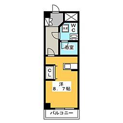 ラフィスタ錦糸町II 3階ワンルームの間取り