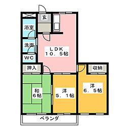 ロイヤルステージ桜橋[3階]の間取り