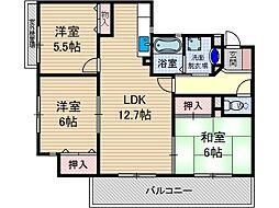 コート・若園[2階]の間取り