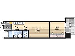 京阪本線 京橋駅 徒歩1分の賃貸マンション 8階1DKの間取り