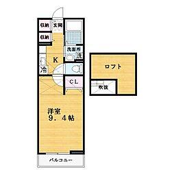 アバンツァート2[2階]の間取り