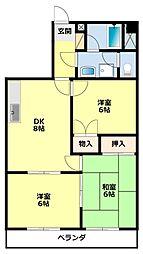 愛知県豊田市梅坪町3丁目の賃貸マンションの間取り