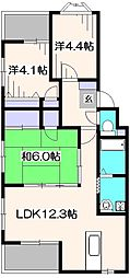 セゾン・ド・ソシエ[2階]の間取り