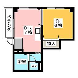 ハーモニアス高蔵寺[1階]の間取り
