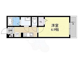 Maison de Moe TSUKAGUCHI 1階1Kの間取り