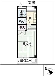 ジュネス龍美[2階]の間取り
