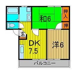 埼玉県さいたま市浦和区常盤2丁目の賃貸アパートの間取り