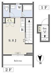 仮)常盤台四丁目計画新築工事 2階ワンルームの間取り