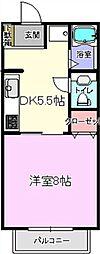 ハウスナカザワF棟[2階]の間取り